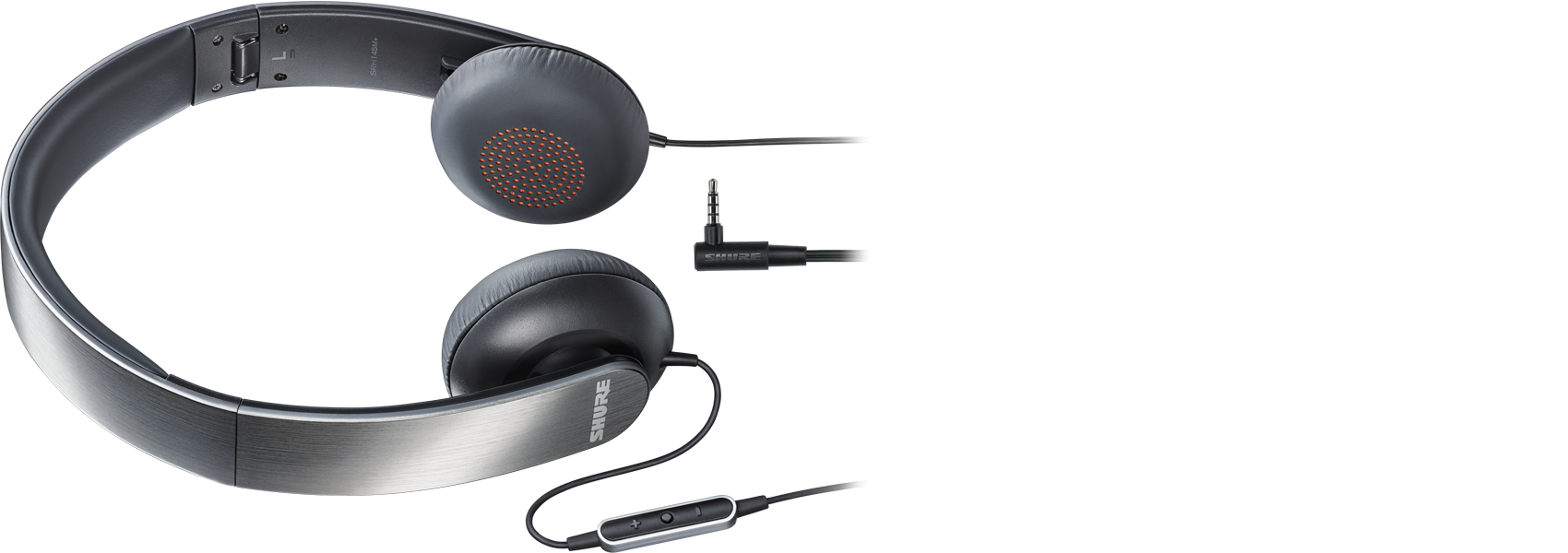 Illustration Shure SRH145m+ Portable Headphones With Remote + Mic