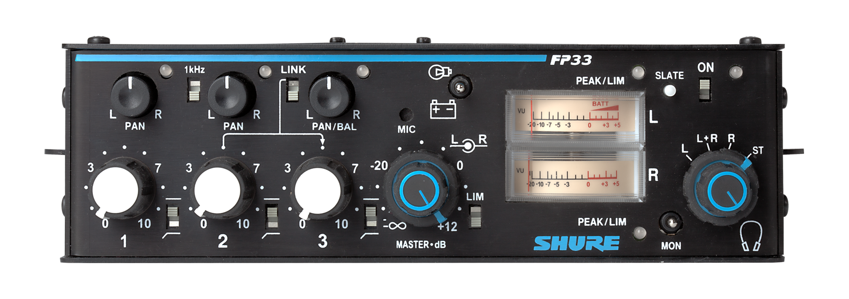 Illustration Shure FP33 Stereo ENG Mixer