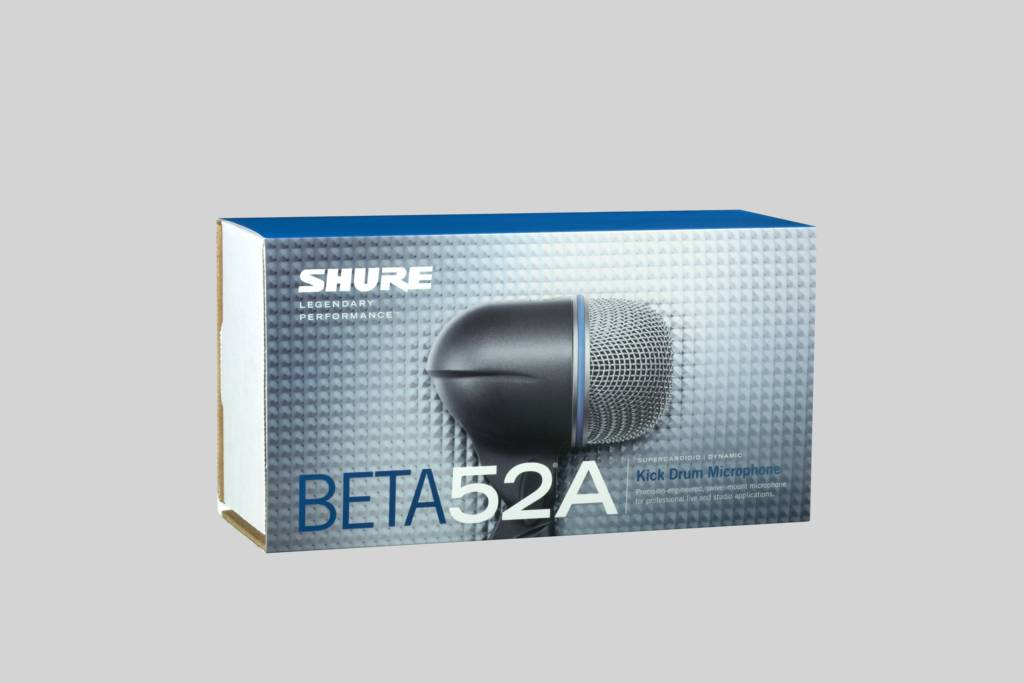 Illustration Shure Beta 52A microphone de grosse caisse