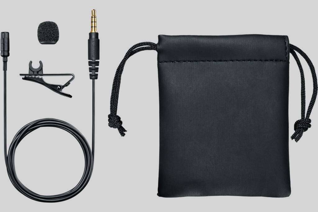 Illustration Shure Lavalier Microphone for Smartphone or Tablet