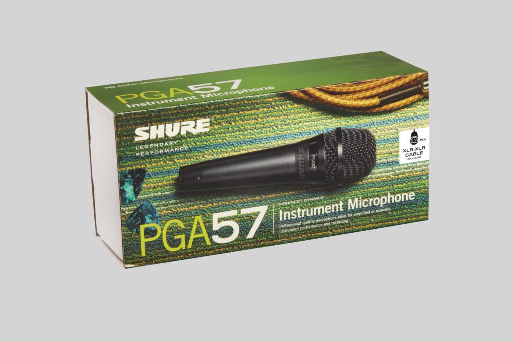 Illustration Shure PGA57 Cardioid Dynamic Instrument Microphone