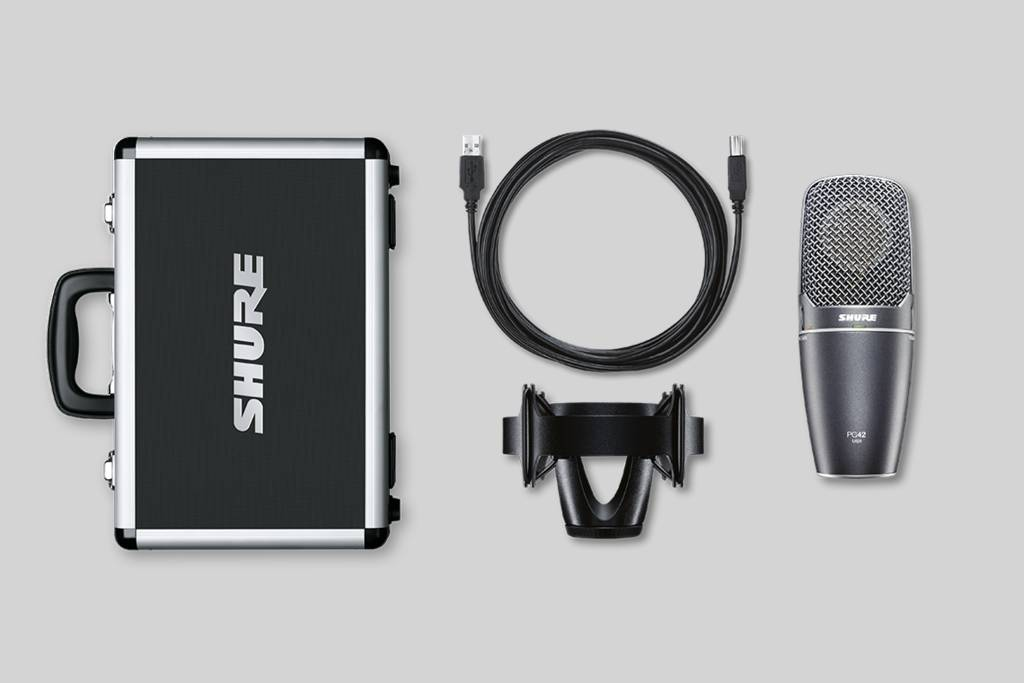 Illustration Shure Side Address Condenser Microphone for USB Plug&Play