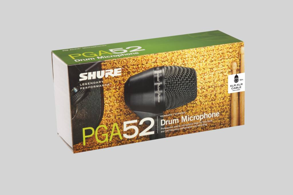 Illustration Shure Cardioid Dynamic Kick Drum Microphone