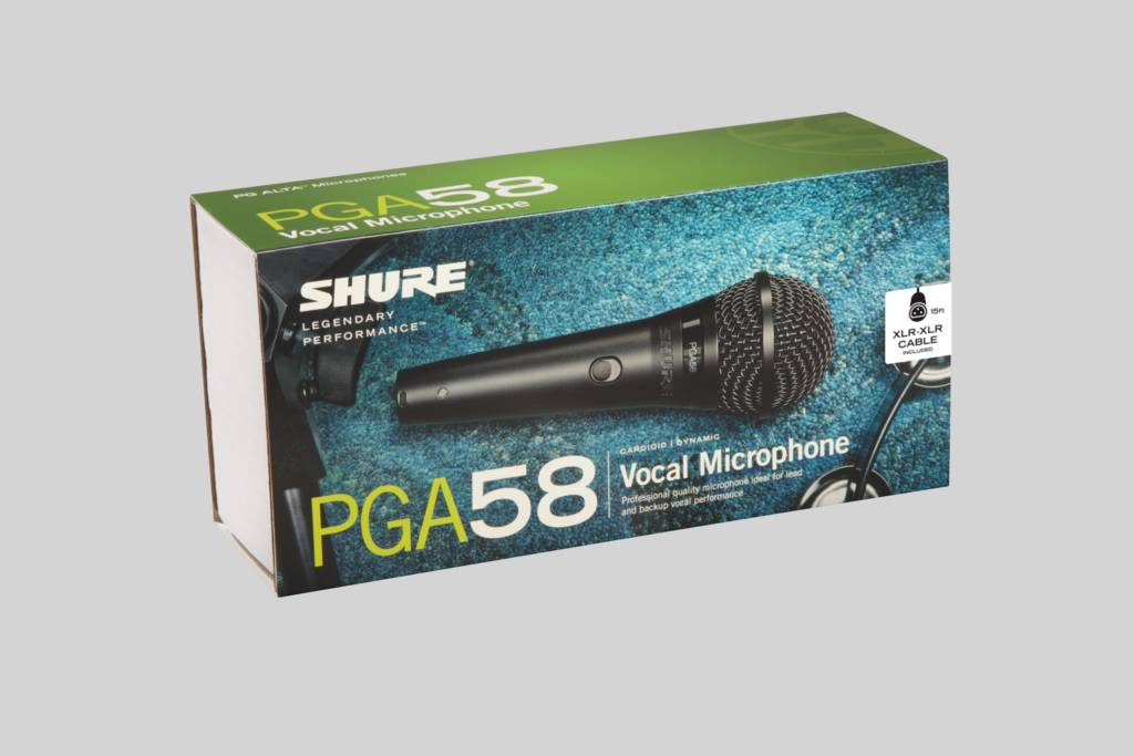 Illustration Shure Cardioid Dynamic Vocal Microphone