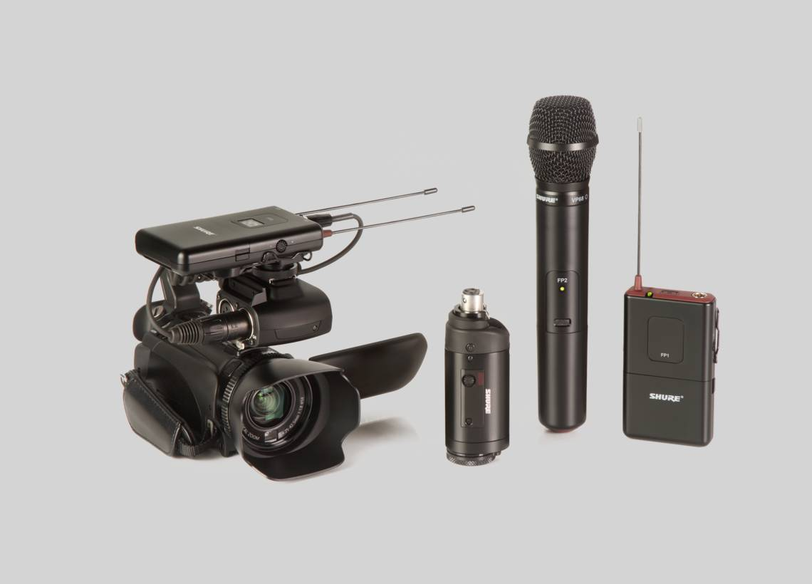 Illustration Shure FP Wireless Systems for Videography and electronic field production
