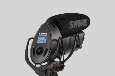 Ilustración Shure VP83F LensHopper Camera-Mount Shotgun Microphone with Integrated Flash Recording