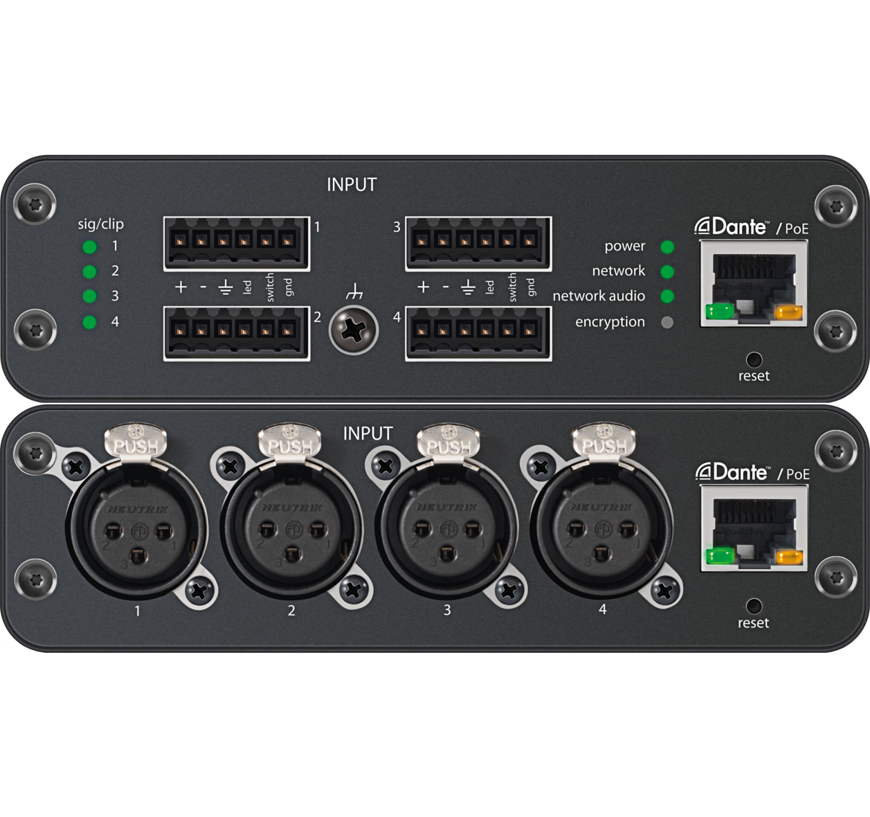 ani4in audio network interface rh shure com