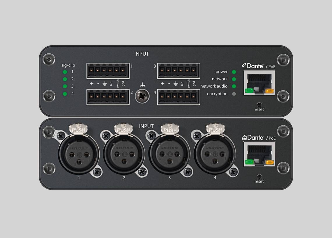 Illustration Shure ANI4IN Audio Network Interface