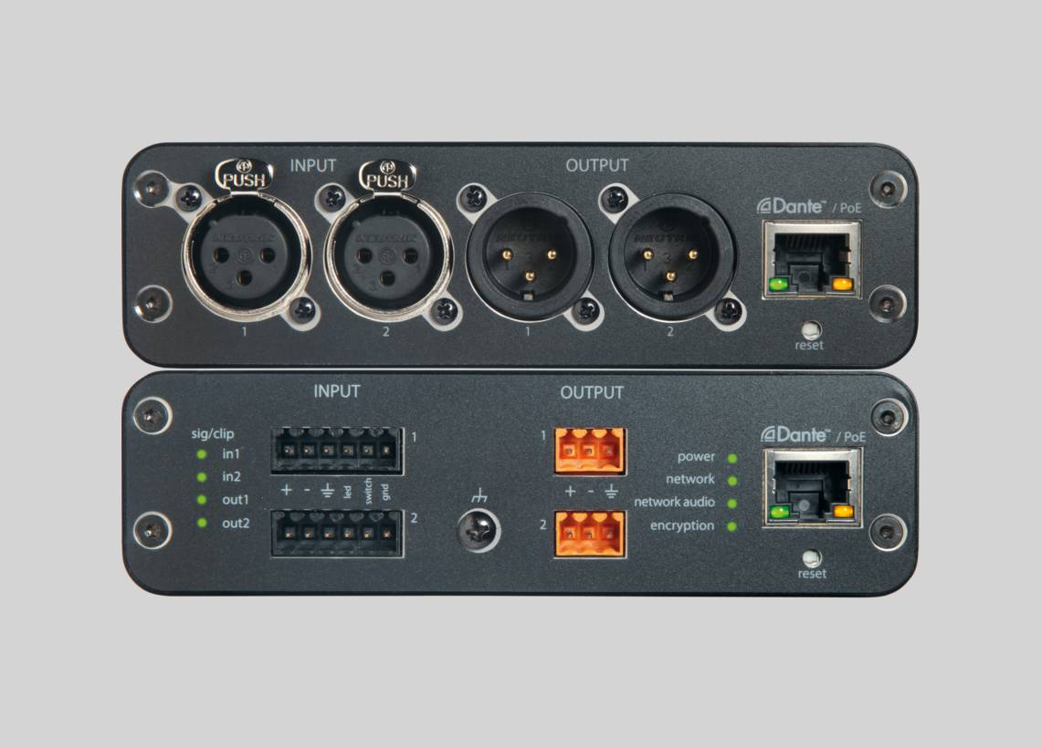 Illustration Shure ANI22 Audio Network Interface