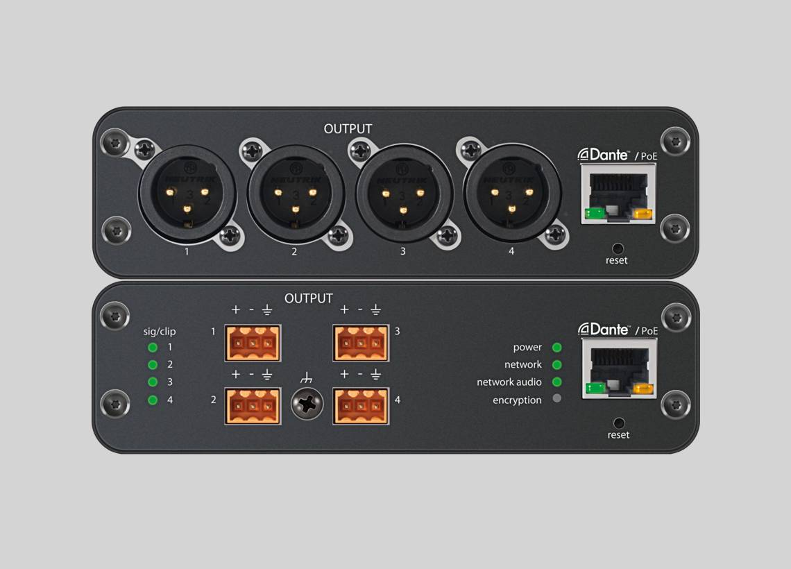 Illustration Shure ANI4OUT Audio Network Interface