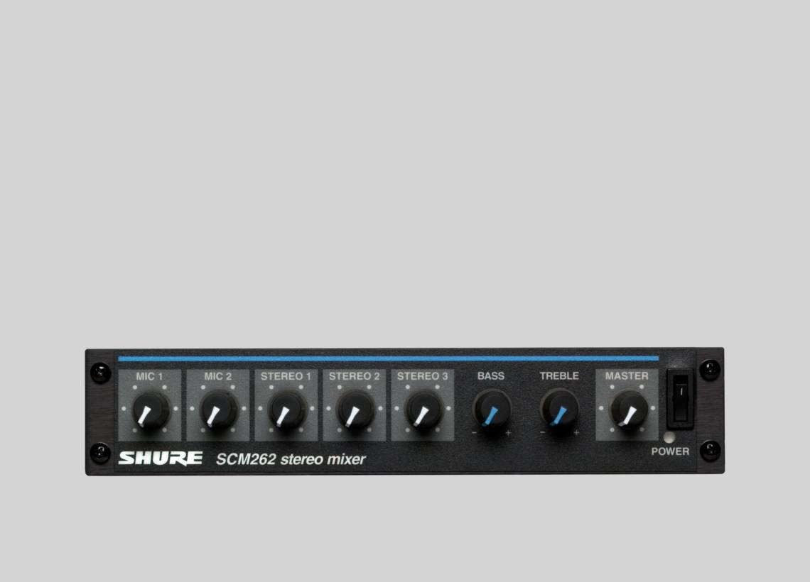 Illustration Shure SCM262 Stereo Microphone Mixer