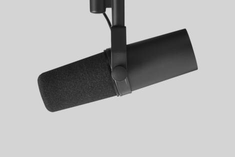 Illustration Shure SM7B Studio Microphone