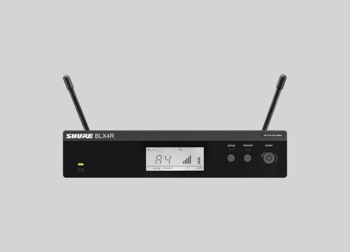 Illustration Shure BLX4R Wireless Receiver for BLX-R Wireless System