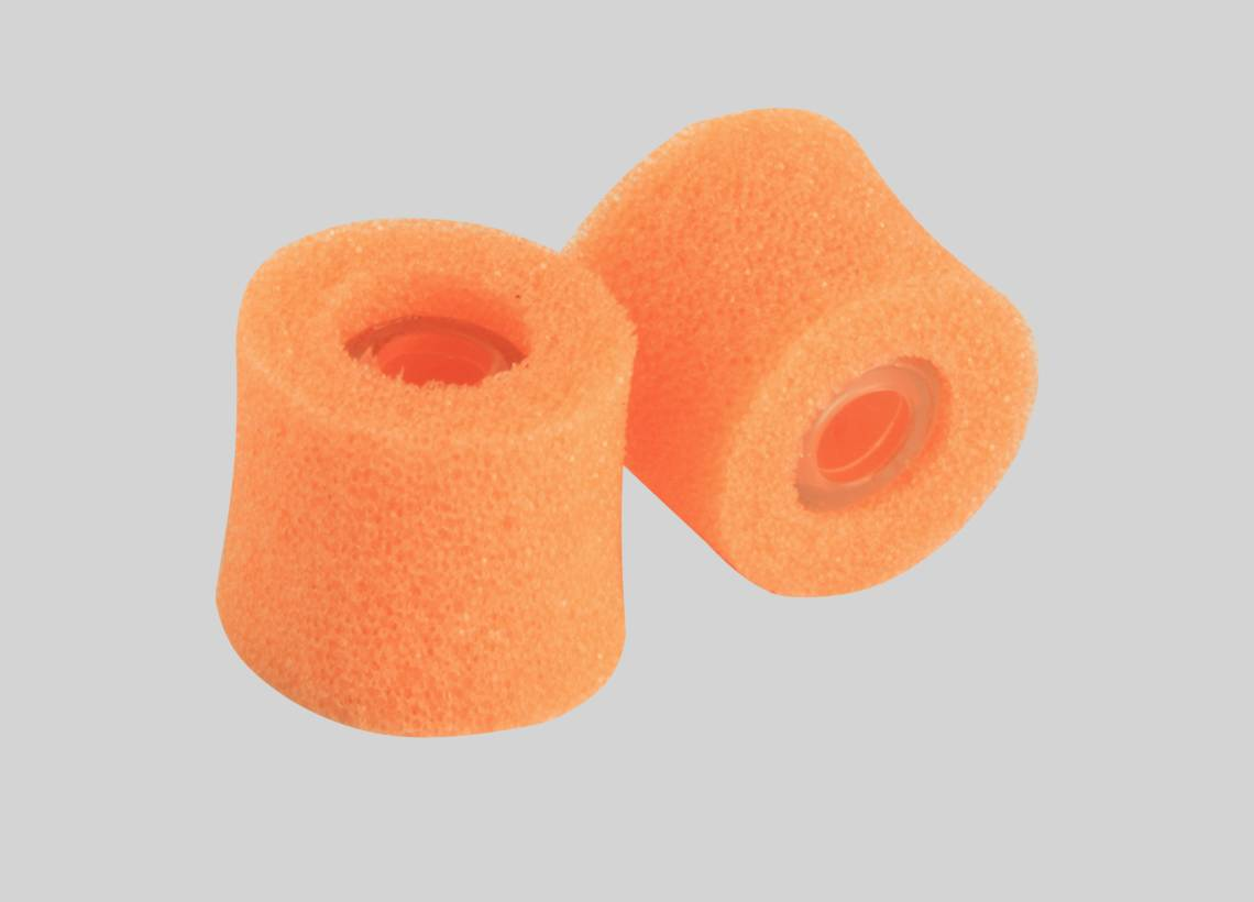 Illustratie Shure EAORF2 Oranje foam sleeves