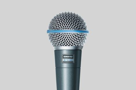 Illustratie Shure Beta 58A Vocal Microphone