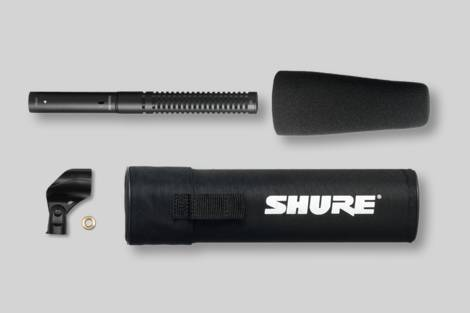 Abbildung Shure Short Shotgun Microphone with Case & Foam Windscreen