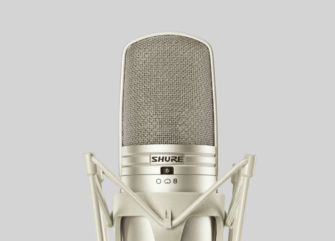 Illustration Shure Large Diaphragm Multi-Pattern Condenser Microphone
