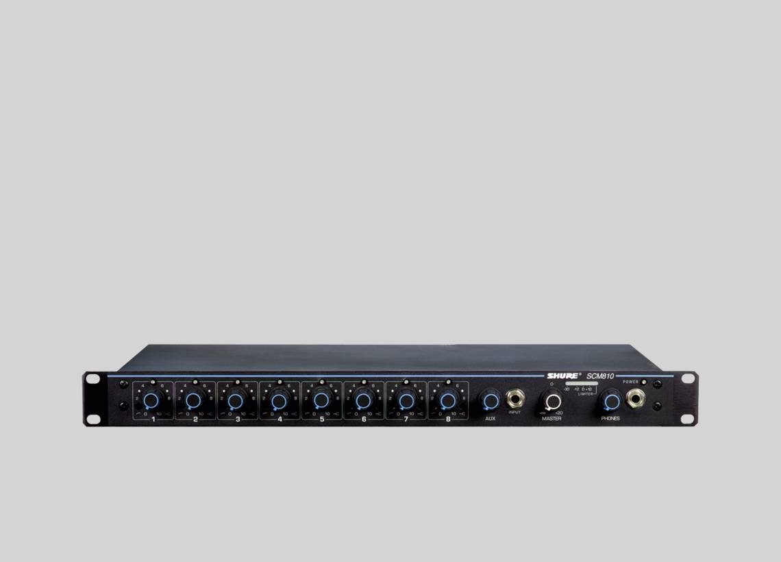 SCM810 - Eight Channel Automatic Mixer