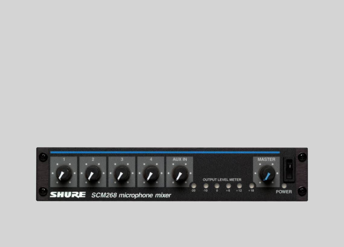Illustration Shure SCM268 4-Channel Microphone Mixer