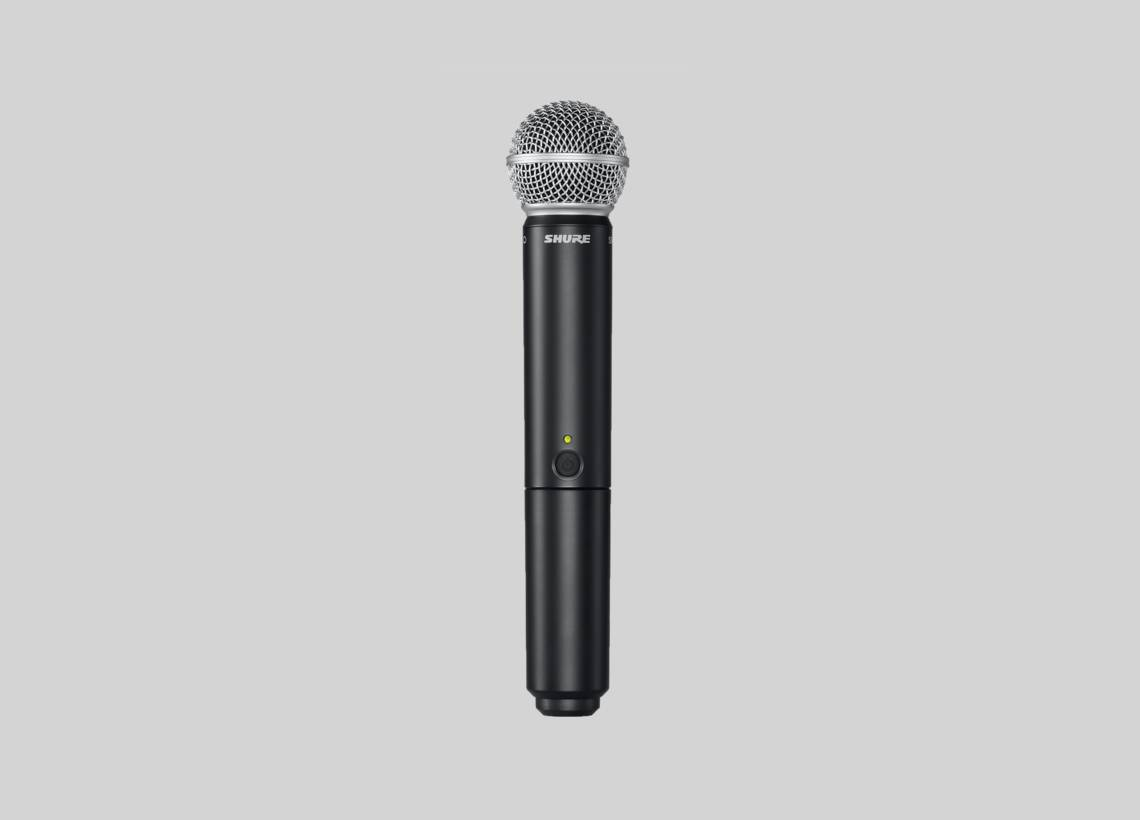 Illustration Shure BLX2/SM58 Handheld transmitter with SM58 capsule