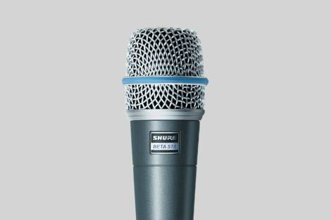 Illustration Shure Beta 57A Dynamic Instrument Microphone