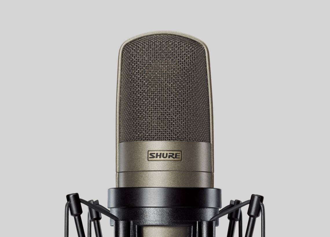 Illustration Shure Large Dual-Diaphragm Microphone