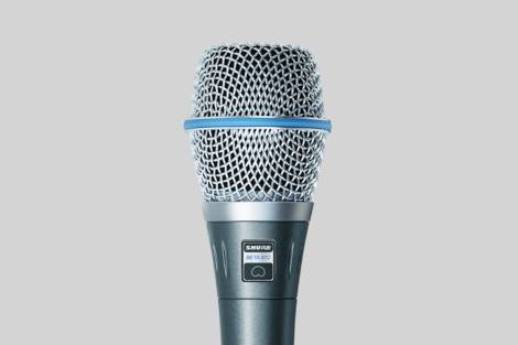 Illustratie Shure Beta 87C Vocal Microphone
