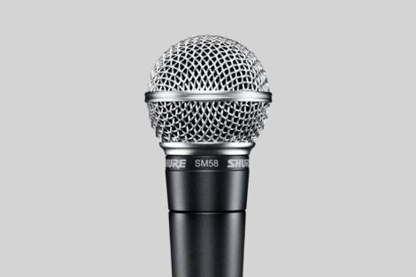 Illustration Shure SM58-LC
