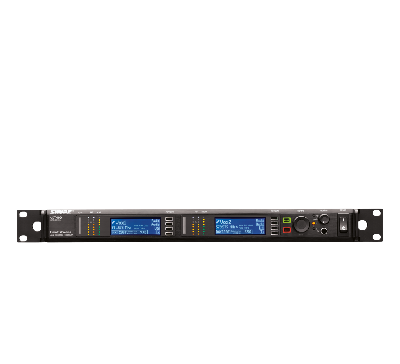 AXT400 - Axient Dual Channel Receiver