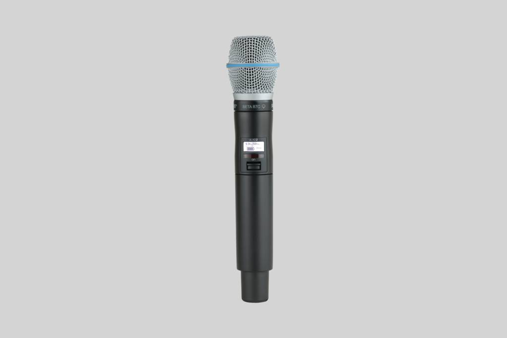 Illustratie Shure Beta 87C zangmicrofoon