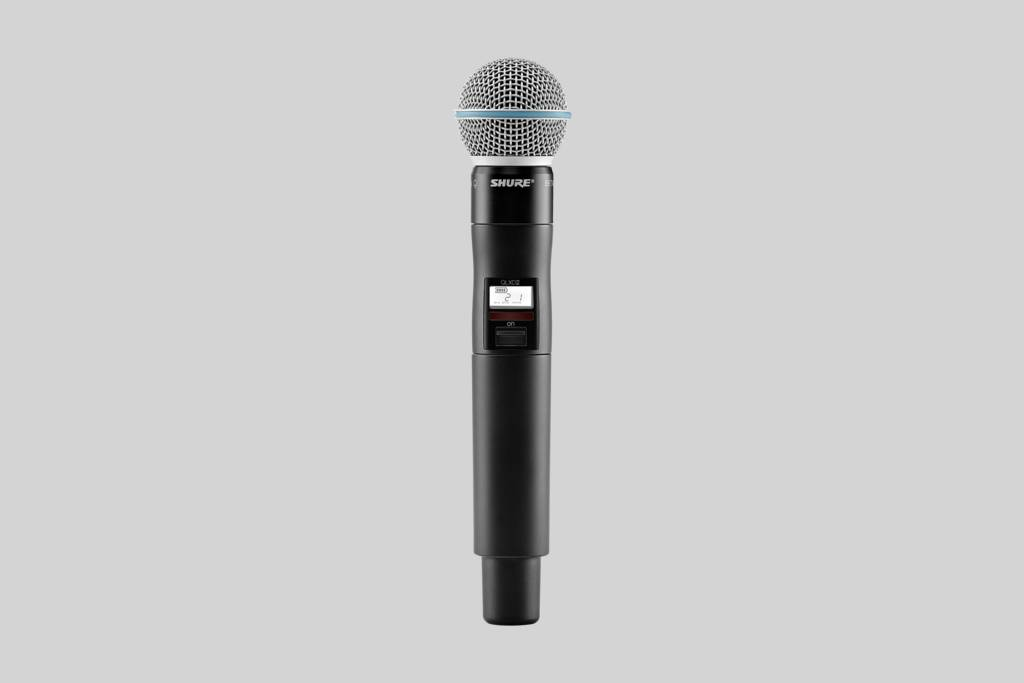 Illustration Shure Microphone depour la voix Beta 58A